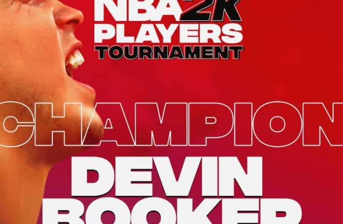Basketball-Star Devin Booker darf sich NBA 2K Players Champion nennen, er gewann das Charity-E-Sport-Turnier. Bild: 2K Games