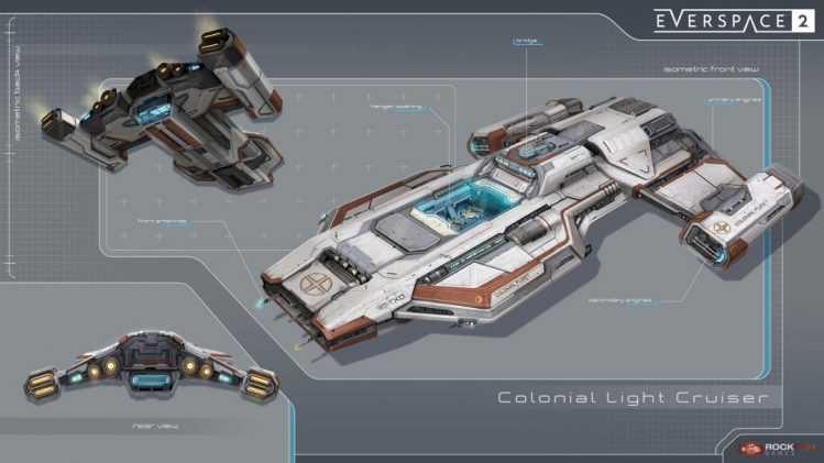 Everspace 2 erlaubt es Spielern, sich ihr Raumschiff selbst zu designen. Bild: Rockfish Games