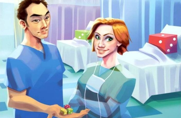 Dice Hospital ER: Emergency Roll stammt von Brett J. Gilbert und Matthew Dunstan. Bildrechte: Alley Cat Games