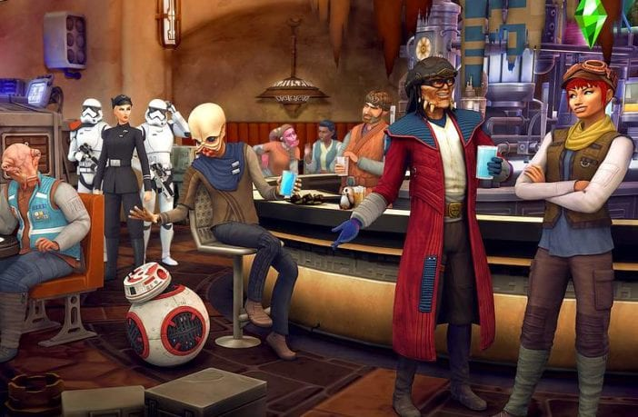 "Mit dem Gameplay-Pack Star Wars: Die Reise nach Batuu"" können Fans von Die Sims 4 einen Ausflug in die Star-Wars-Themenwelt ""Galaxy's Edge"" in Walt Disney World machen. Bildrechte: Electronic Arts"
